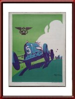 Vintage Original 1935 MCF Car Poster by Geo Ham Litho