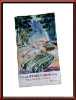 Vintage 1952 24 Hours of Le Mans Program Booklet with Cover Art by Geo Ham