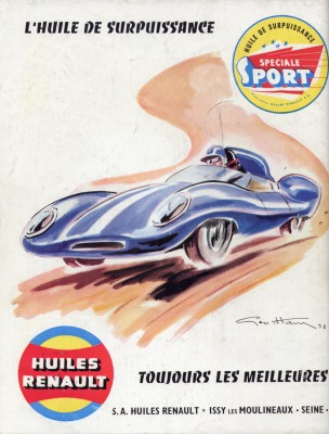 1958 Huiles Renault Advertisment by Geo Ham