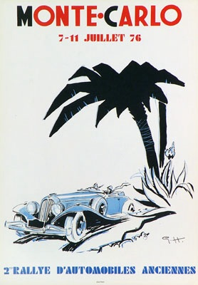 1976 Vintage Rallye Monte-Carlo Poster by Geo Ham